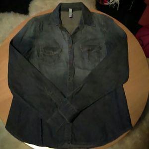 Dark denim blue shirt worn once